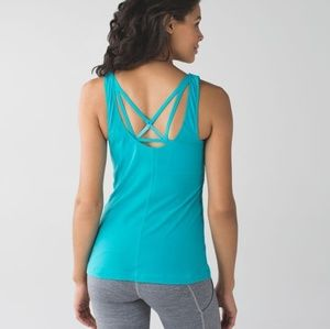Lululemon sweaty endeavor tank 4 peacock blue
